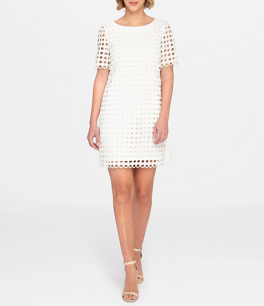 Tahari by ASL Open Lace Shift Dress