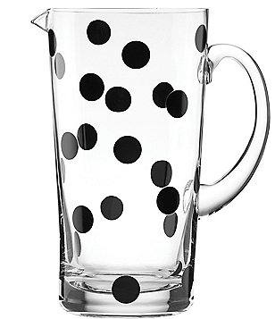 kate spade new york All in Good Taste Deco Dot Glass Pitcher