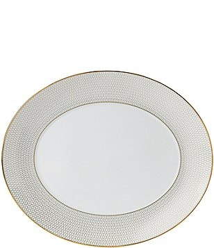 Wedgwood Arris Geometric Bone China Oval Platter
