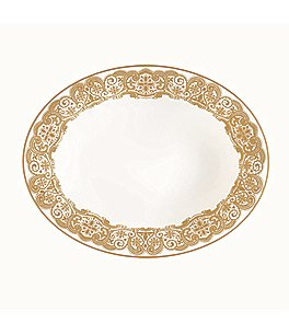Waterford Lismore Lace Gold Bone China Vegetable Bowl Image