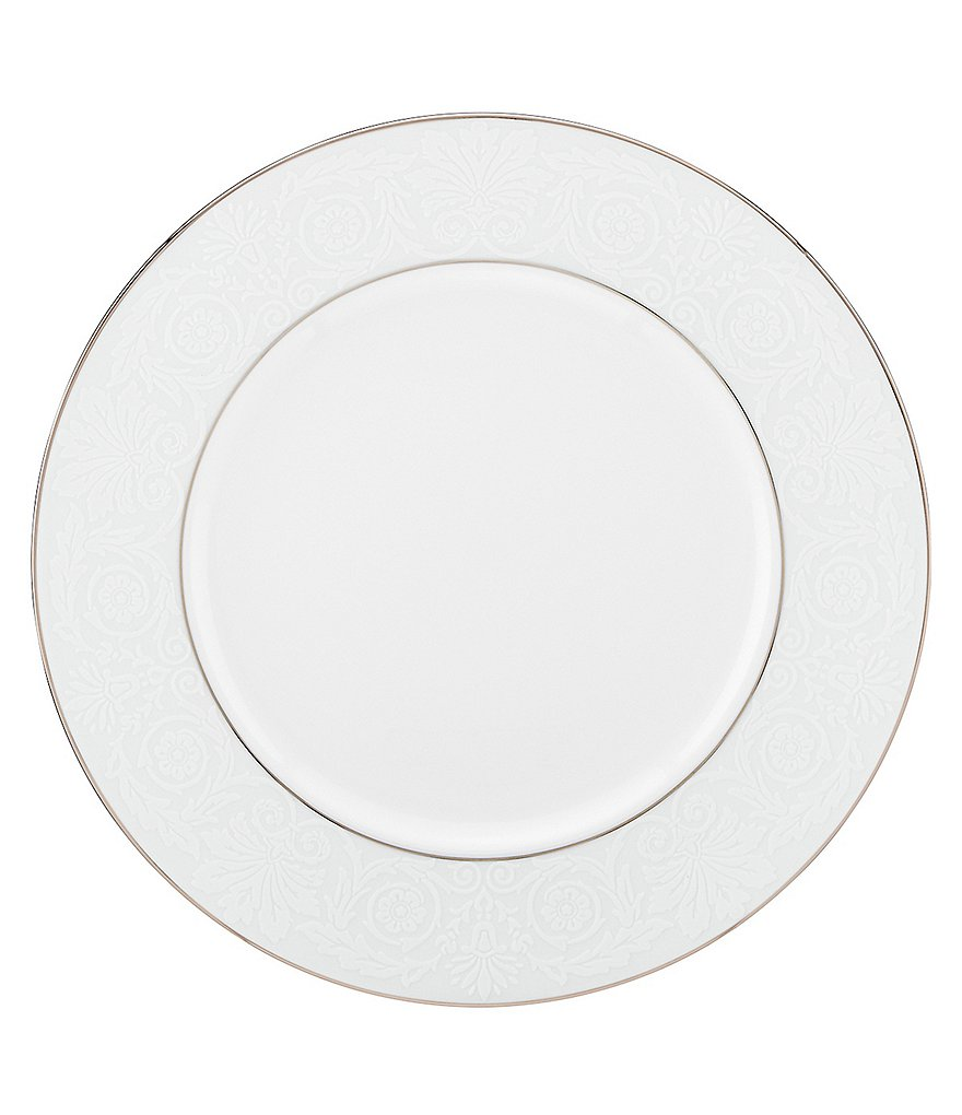Lenox Artemis Floral Platinum Bone China Dinner Plate
