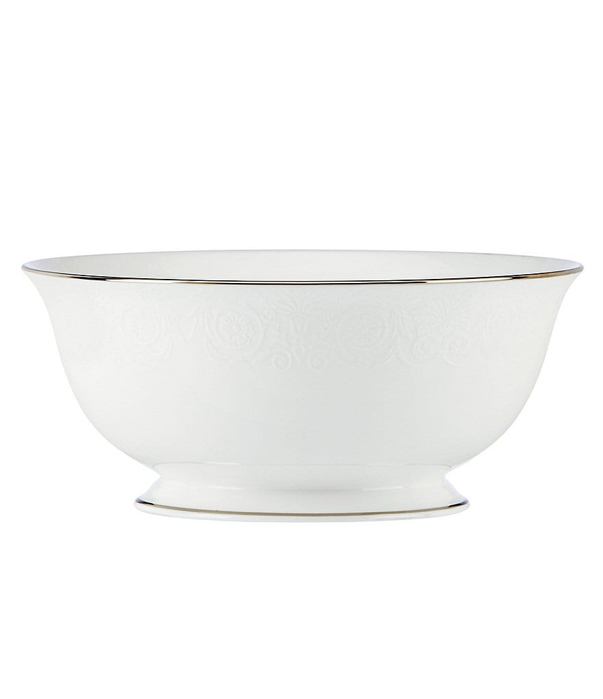 Lenox Artemis Floral Platinum Bone China Serving Bowl