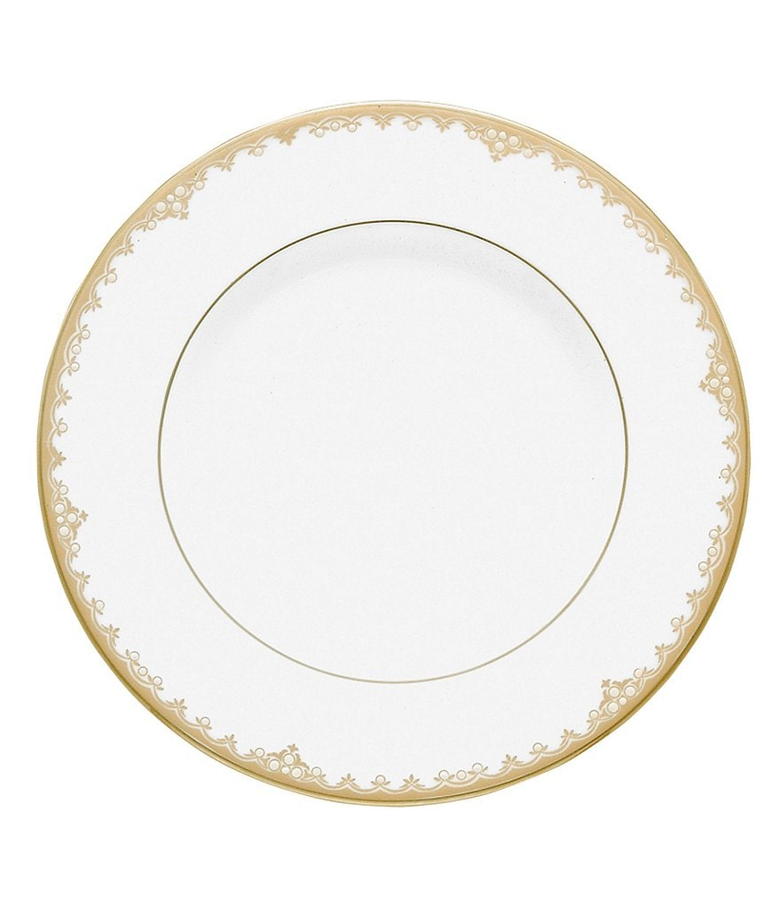 Lenox Federal Gold Scalloped Bone China Accent Salad Plate