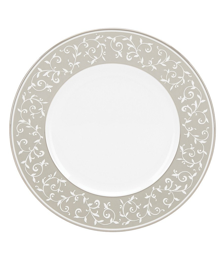 Lenox Opal Innocence Dune Vine Platinum Bone China Dinner Plate