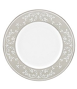 Lenox Opal Innocence Dune Vine Platinum Bone China Accent Salad Plate Image