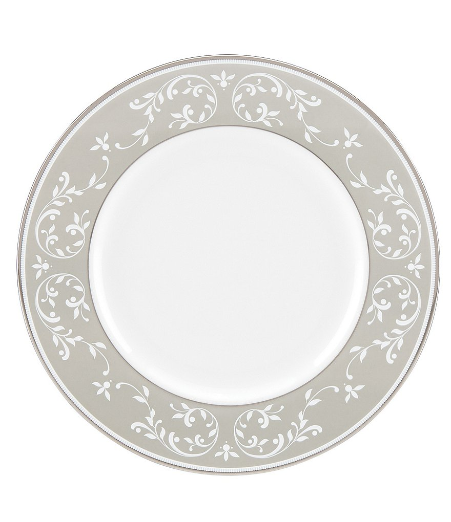 Lenox Opal Innocence Dune Vine Platinum Bone China Accent Salad Plate