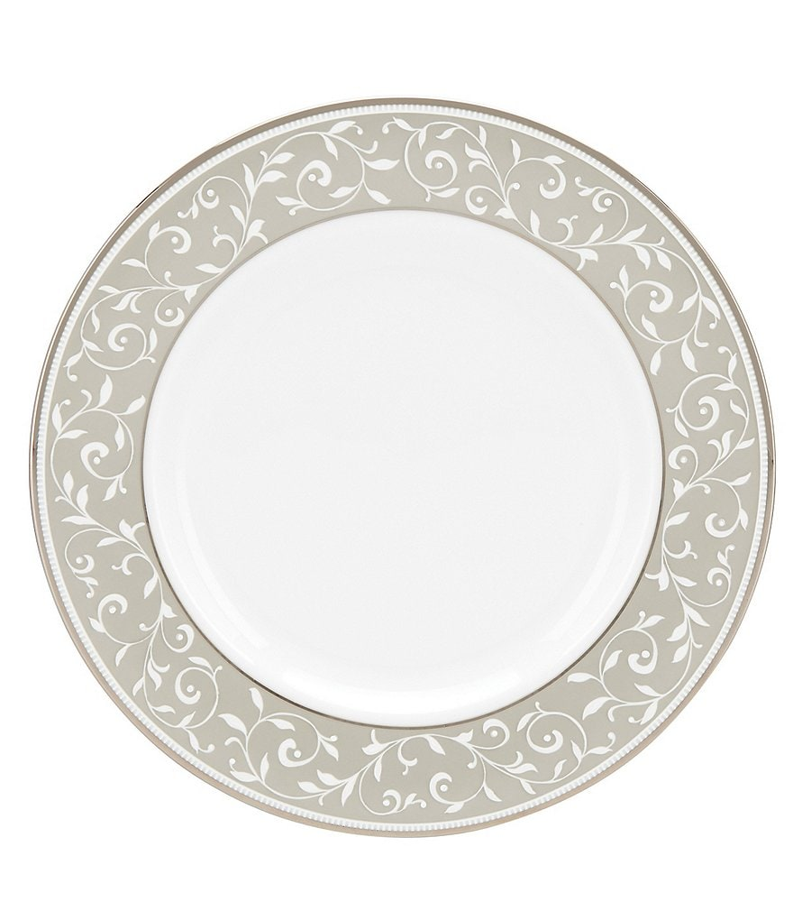 Lenox Opal Innocence Dune Vine Platinum Bone China Salad Plate