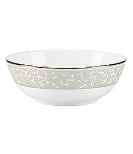 Lenox Opal Innocence Dune Vine & Pearl Platinum Bone China Bowl Image