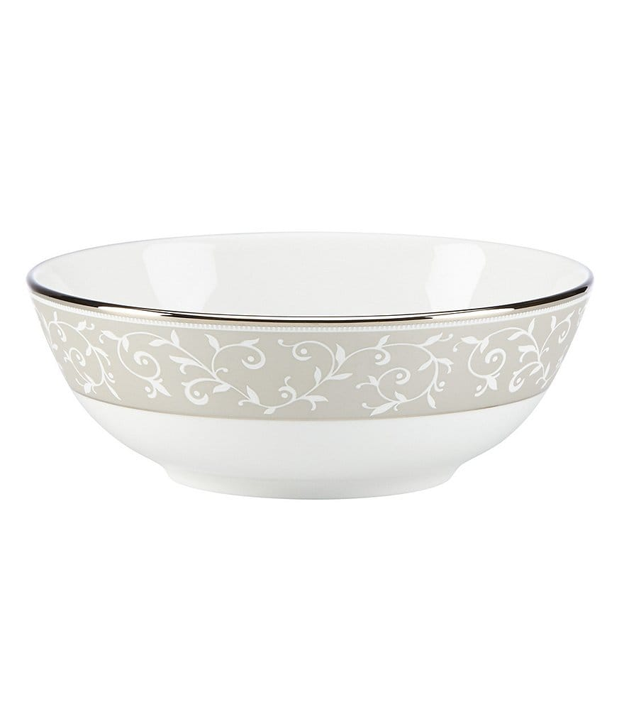 Lenox Opal Innocence Dune Vine & Pearl Platinum Bone China Bowl