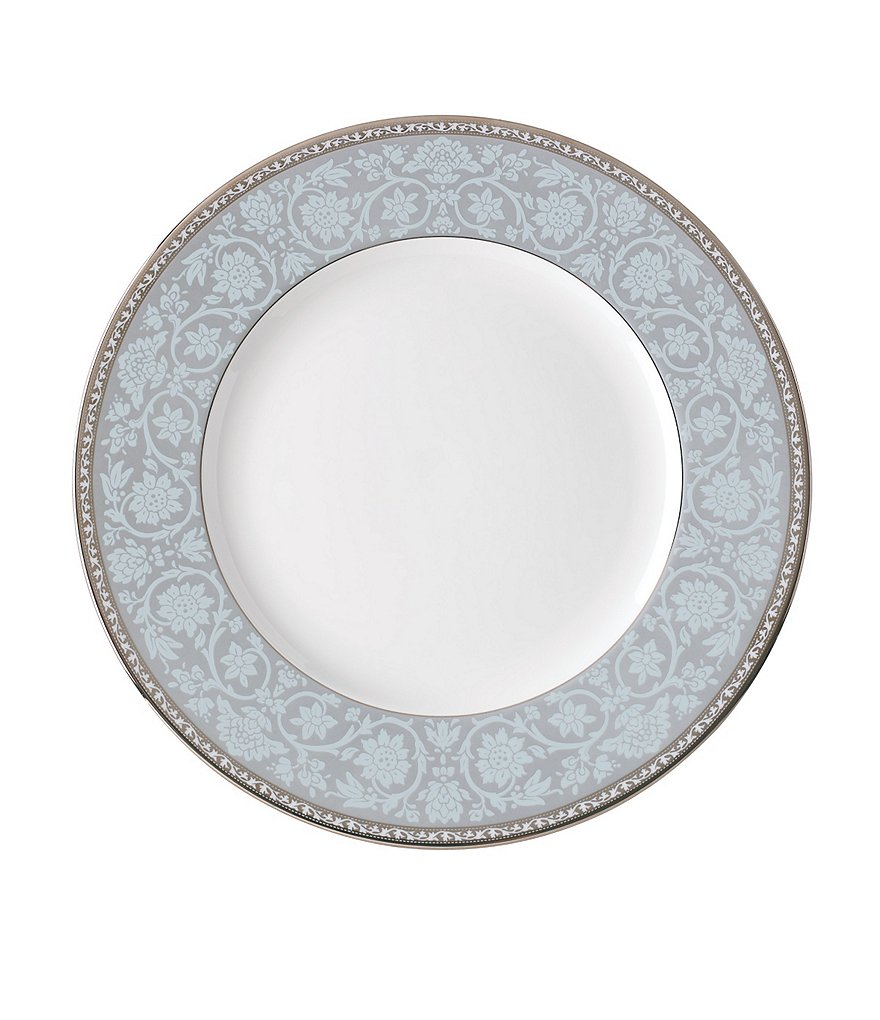 Lenox Westmore Floral Platinum Bone China Dinner Plate
