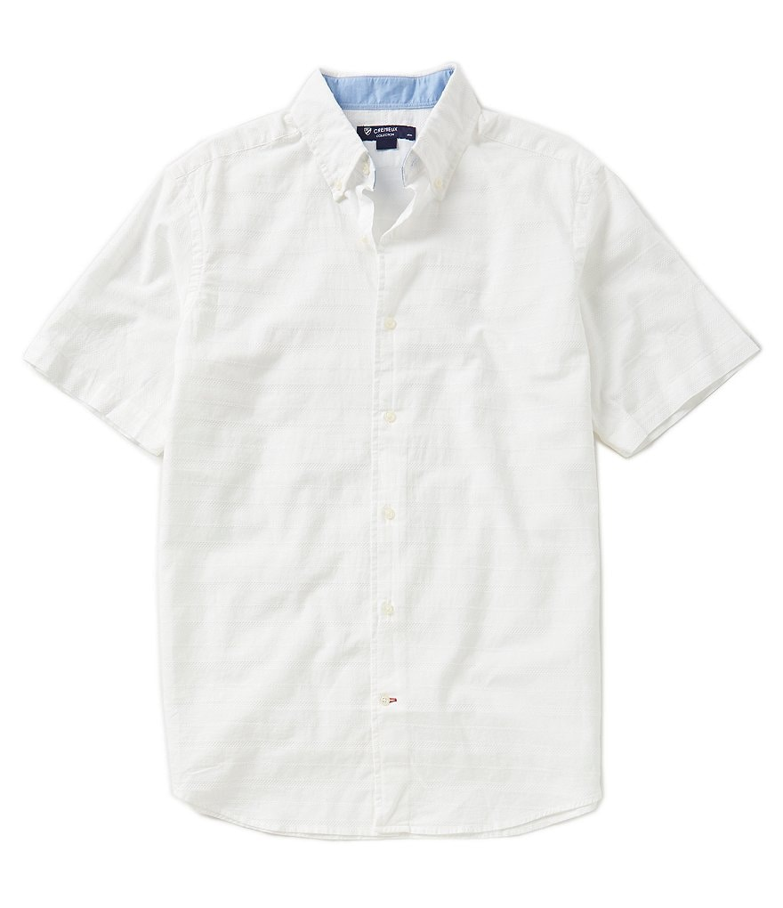 Cremieux Short-Sleeve Textured Woven Shirt