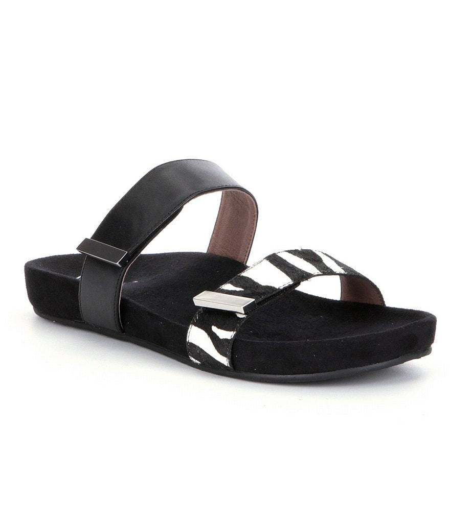 Vionic® Grace Jura Zebra-Print Slide-On Sandals
