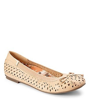 Vionic® Spark Surin Bow Detail Slip-On Leather Ballet Flats