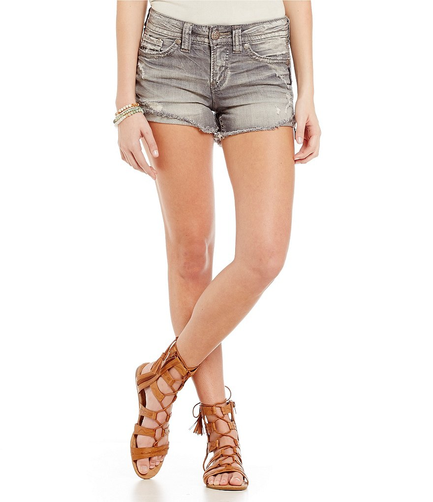 Silver Jeans Co. Aiko Mid Denim Shorts