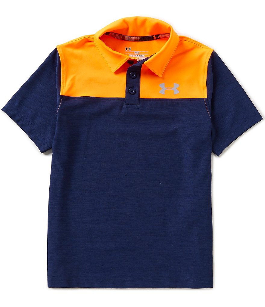 Under Armour Big Boys 8-20 Match Play Blocked Polo Shirt
