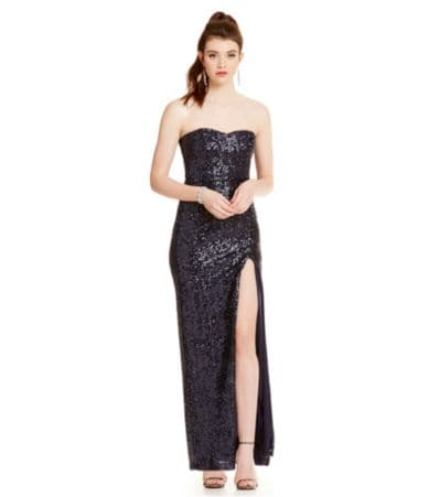 b0c947d8773 ... Yoke Foil Lace Pearl Waist Cut Out Back Gown · share. save.  48.65 ·  Buy from dillards.com. 04606641 zi ivory gold. B. Darlin Strapless Long Sequin  Gown