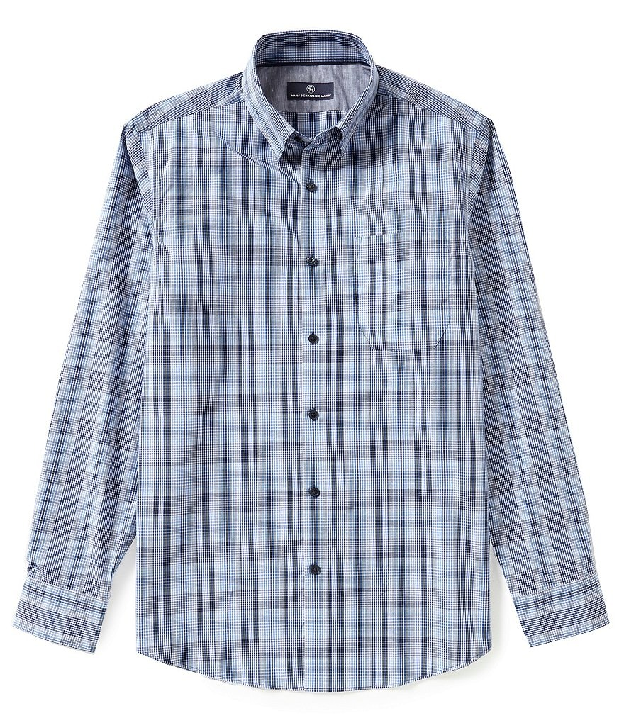 Hart Schaffner Marx Long-Sleeve Multi-Check Woven Shirt