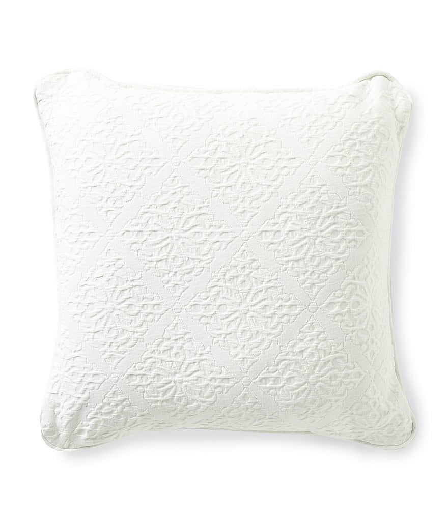 Southern Living Emery Tile Jacquard Matelassé Square Pillow