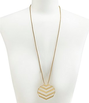 Trina Turk Chevron Flex Pendant Necklace