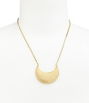 Trina Turk Crescent Pendant Necklace