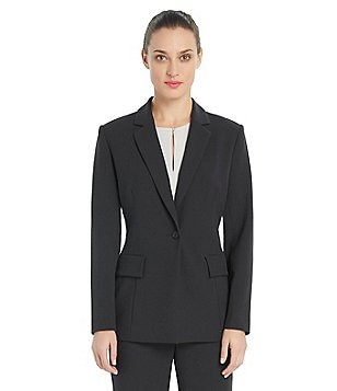 Ellen Tracy Boyfriend Notch Collar Blazer