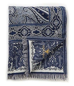 Noble Excellence Frayed Paisley Jacquard Throw