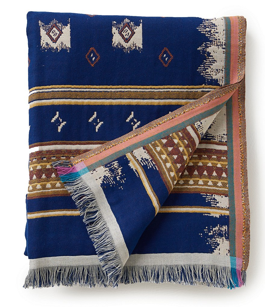 Noble Excellence Larissa Tribal Fringed Cotton Throw