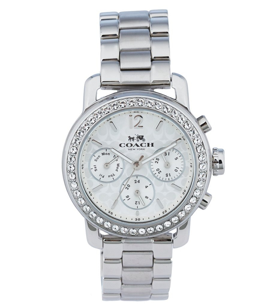COACH LEGACY SPORT MULTIFUNCTION STAINLESS STEEL BRACELET WATCH