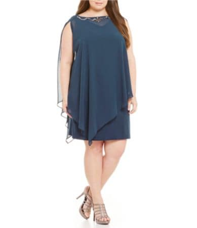 S.L. Fashions Plus 2-Piece Capelet Sheath Dress | Dillards