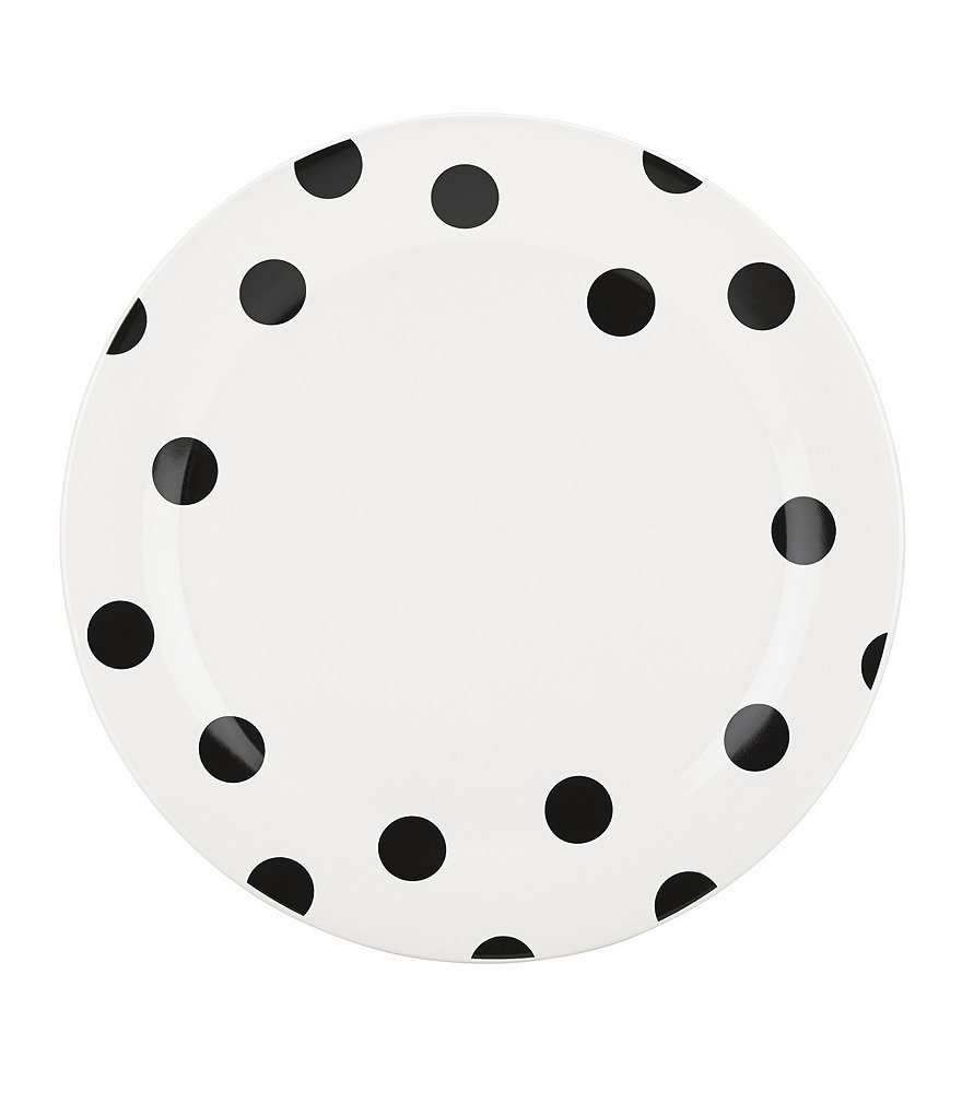 kate spade new york All in Good Taste Deco Dot Stoneware Dinner Plate