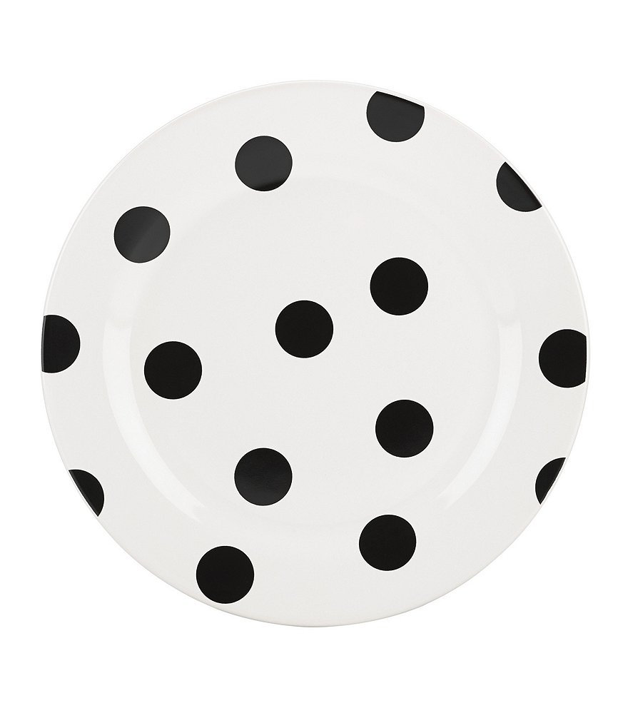 kate spade new york All in Good Taste Deco Dot Stoneware Accent Salad Plate