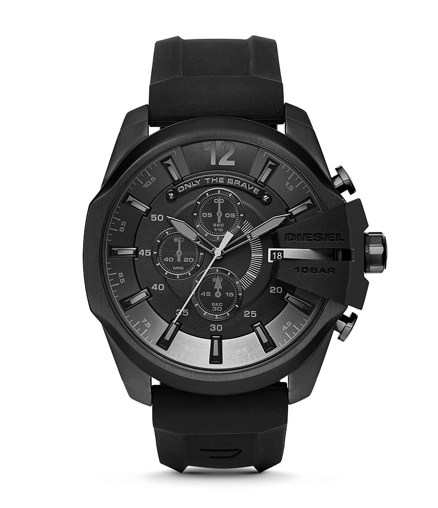 Diesel Men´s Diesel Chief Series Stainless Steel Silicone Strap Chronograph Watch