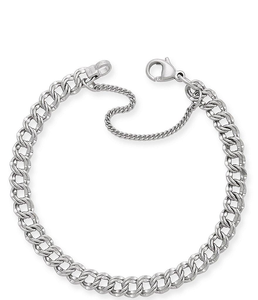 James Avery Light Double Curb Charm Bracelet