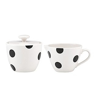 kate spade new york All in Good Taste Deco Dot Stoneware Sugar & Creamer Set
