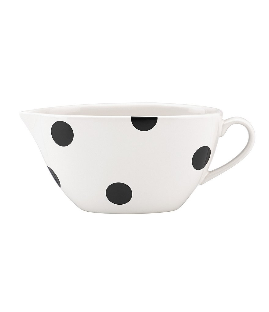kate spade new york All in Good Taste Deco Dot Stoneware Gravy Boat