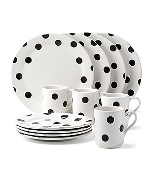 kate spade new york All in Good Taste Deco Dot Stoneware 12-PIece Dinnerware Set