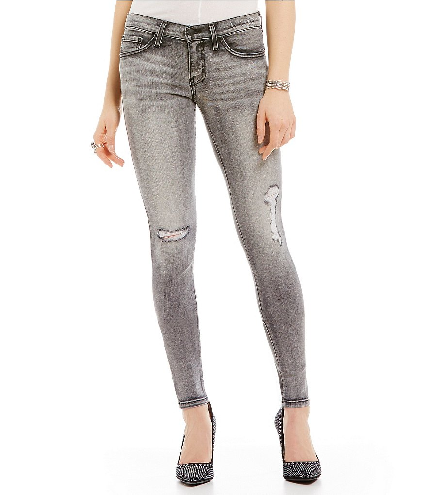 Flying Monkey Distressed Skinny Jeans