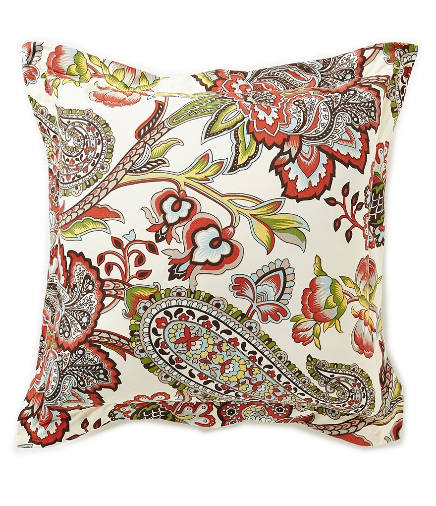 Villa by Noble Excellence Pandora Floral & Paisley Square Pillow