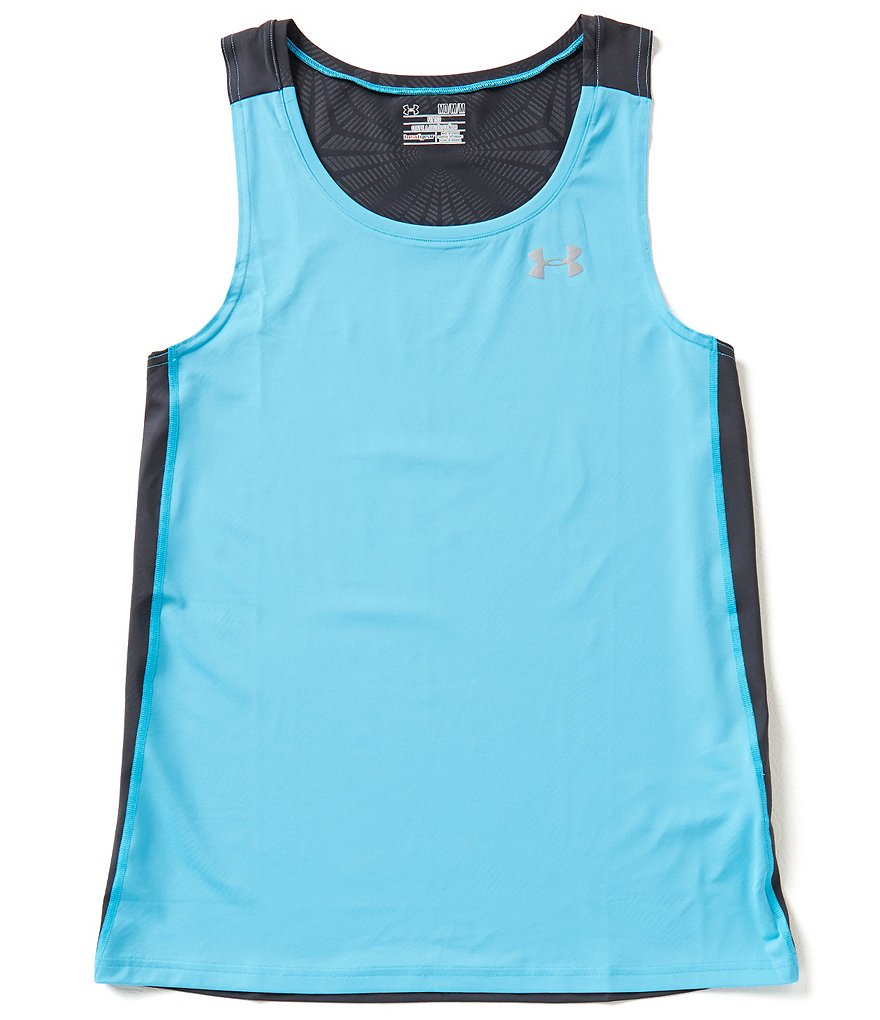 Under Armour Coolswitch Run Singlet Colorblock Tank
