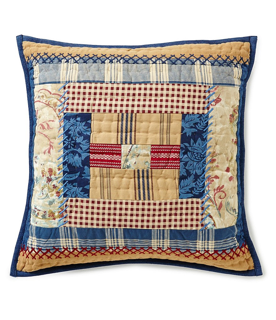 Cremieux Whitney Quilted Patchwork Square Pillow