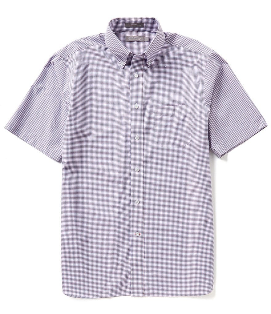 Daniel Cremieux Signature Short-Sleeve Mini-Check Woven Shirt