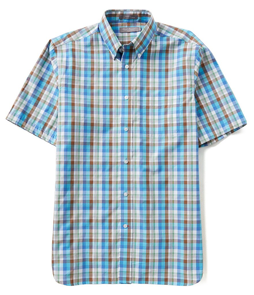 Daniel Cremieux Signature Short-Sleeve Large Plaid Woven Shirt