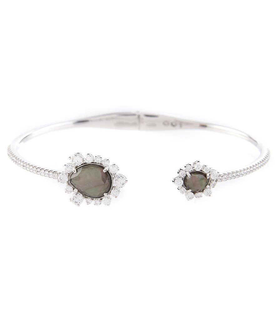 Nadri Oasis Sterling Silver & Mother-of-Pearl Hinge Bracelet