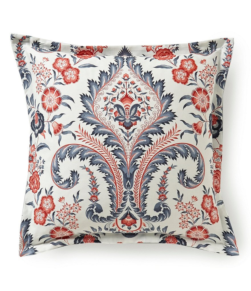 Southern Living Calisto Floral Damask Reversible Pillow