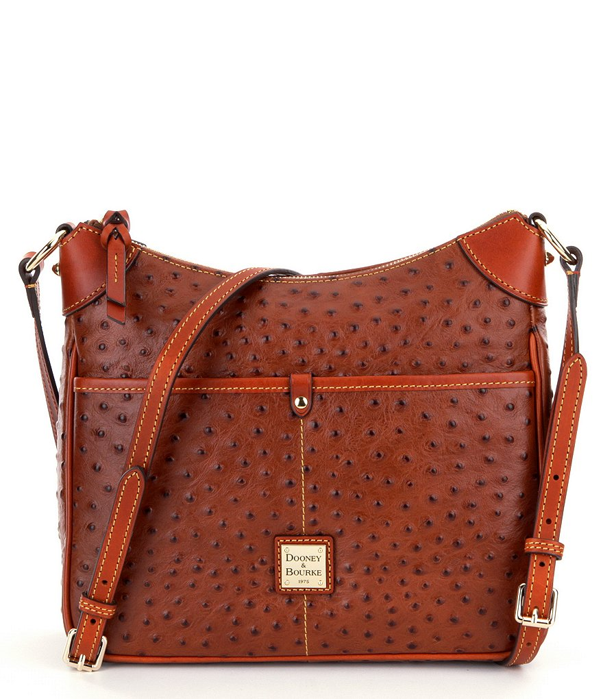 Dooney & Bourke Kimberly Ostrich-Embossed Cross-Body Bag