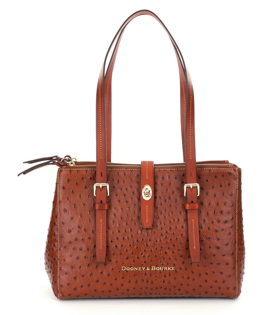 Dooney & Bourke Miller Ostrich-Embossed Shopper Tote
