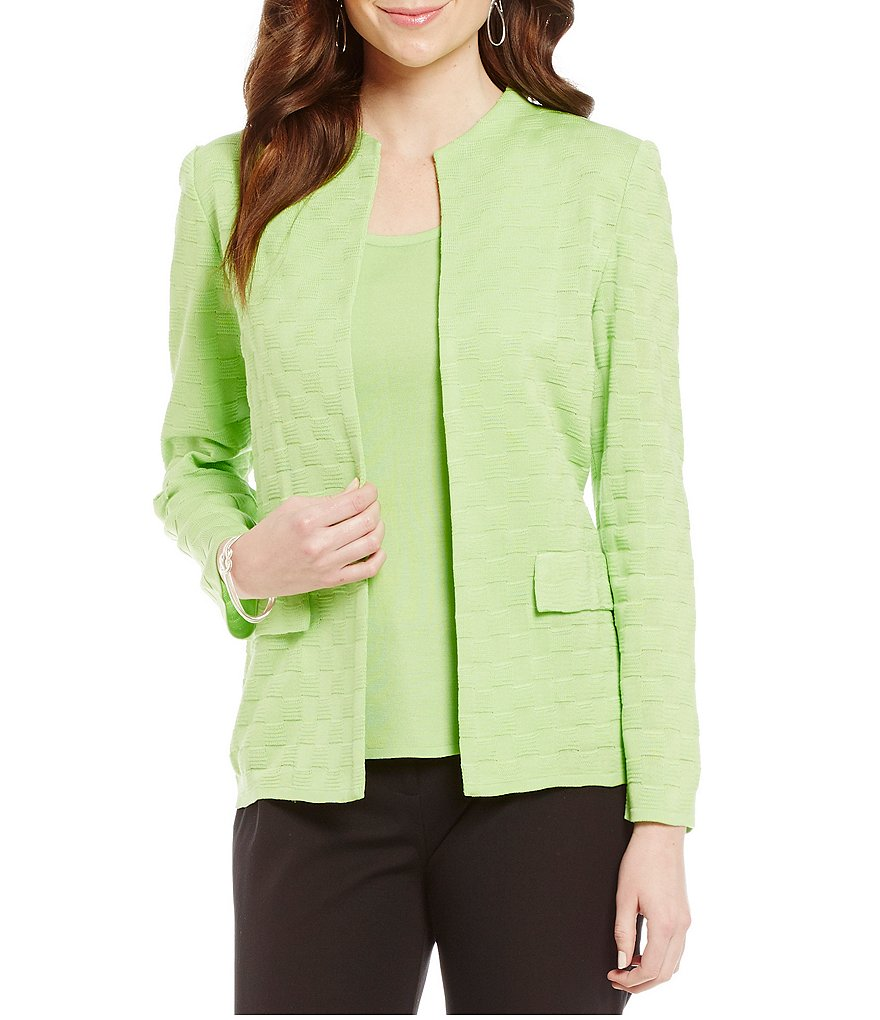 Ming Wang Solid Textured Jacket