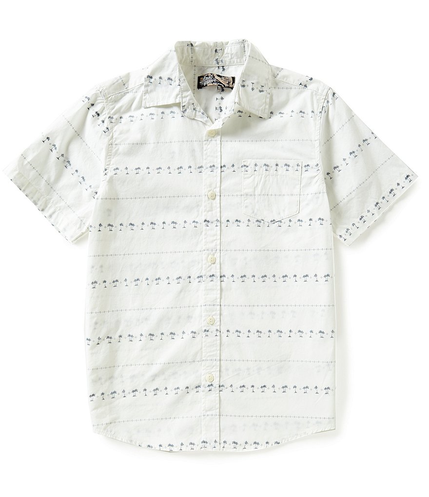 First Wave Big Boys 8-20 Striped Woven Shirt