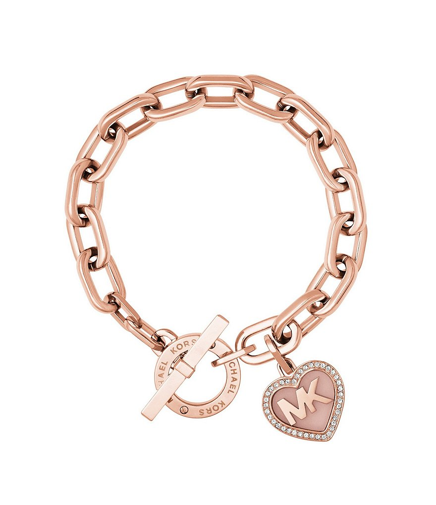 Pandora bracelet dillards - Valentine S Day Heart Cubic Zirconia Logo Toggle Bracelet Dillards