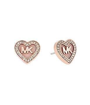 Michael Kors Valentine´s Day Pavé Heart Stud Earrings